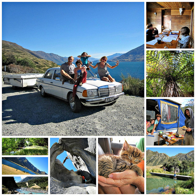collage NZ road trip