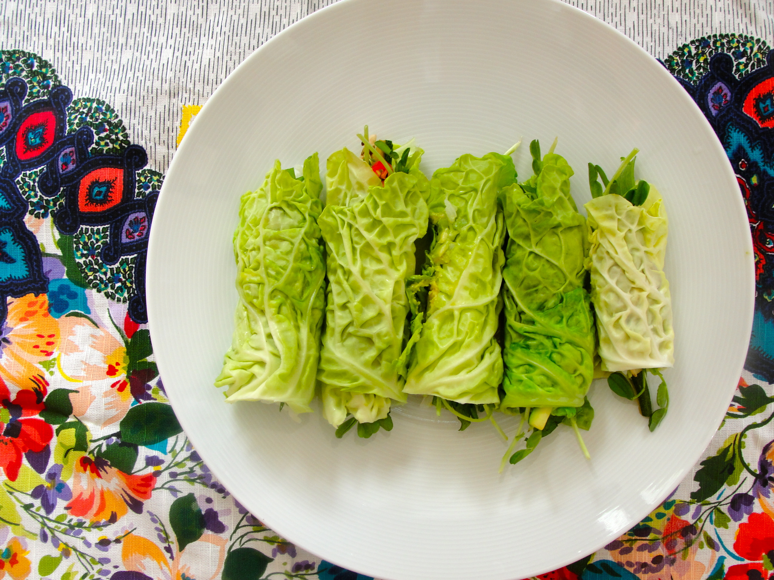 Susie's Cabbage Leaf Spring Rolls | Wildhungry